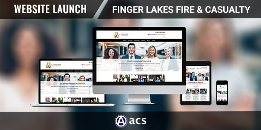 insurance website design finger lakes fire and casualty portfolio from acs web design and seo