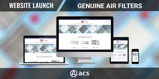 ecommerce website design genuine air filters portfolio listing