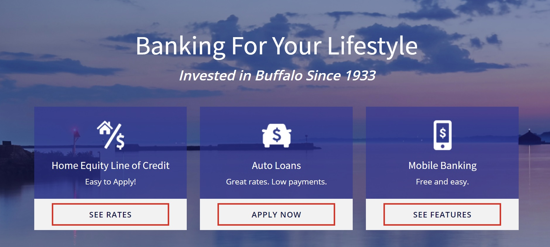 credit union website design near buffalo ny for lead generation growth bscu from acs web design and seo