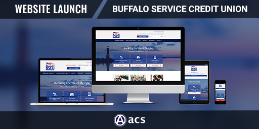 credit union website design near buffalo ny for bscu by acs web design and seo