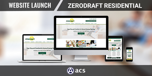 web design for contractors portfolio listing of zerodraft residential for acs web design and seo