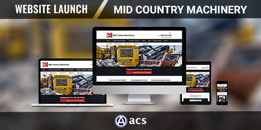 heavy equipment website design portfolio listing