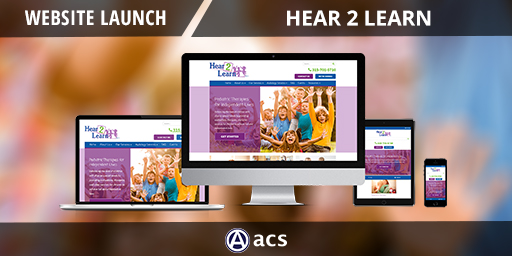 pediatric website design hear 2 learn portfolio listing