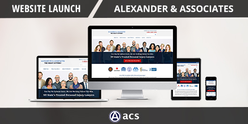 legal website design portfolio listing of alexander and associates  for acs