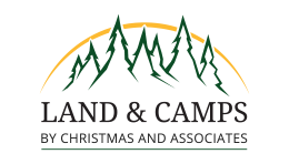 website design syracuse land and camps logo