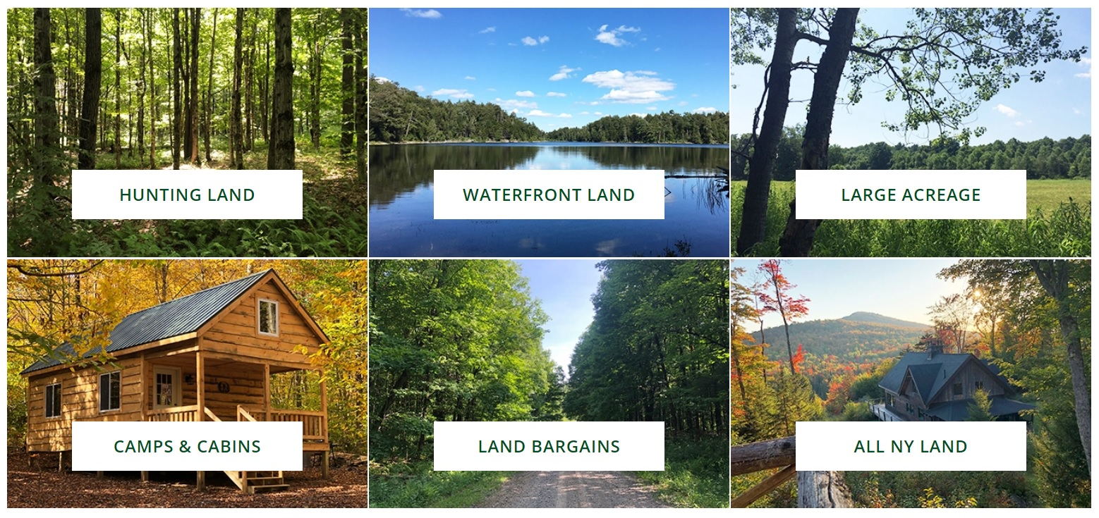 new york web design image of property type filters for hunting land waterfront land large acreage camps and cabins land bargains and all ny land