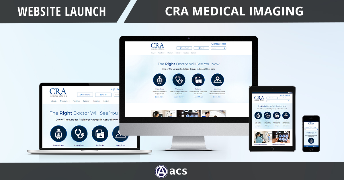 medical office website design image of cra medical imaging site website launch portfolio  entry