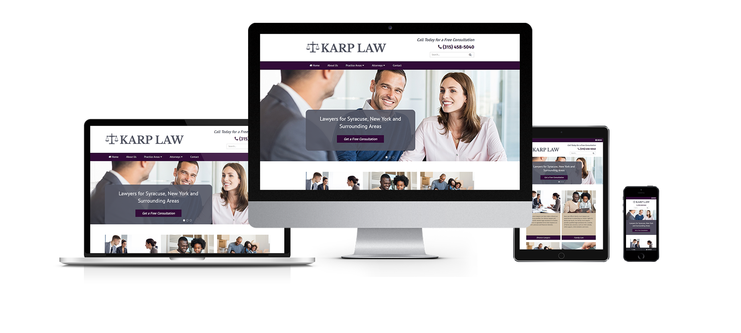 law office web design image of karp law office responsive website design view full width