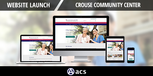 nursing home website design image of website on various devices website launch